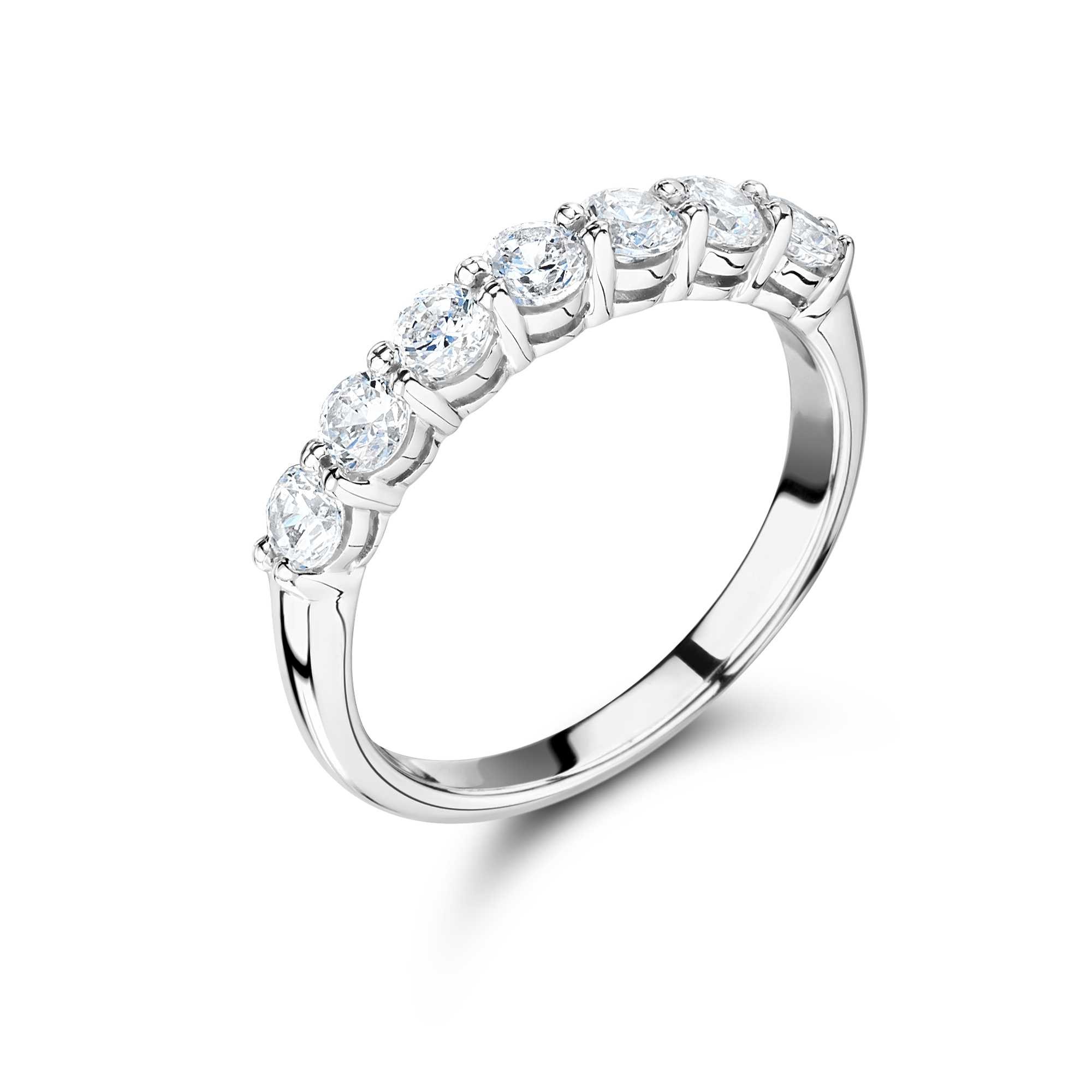 eternity ring rounded product brilliant half cut diamond round stone wedding london