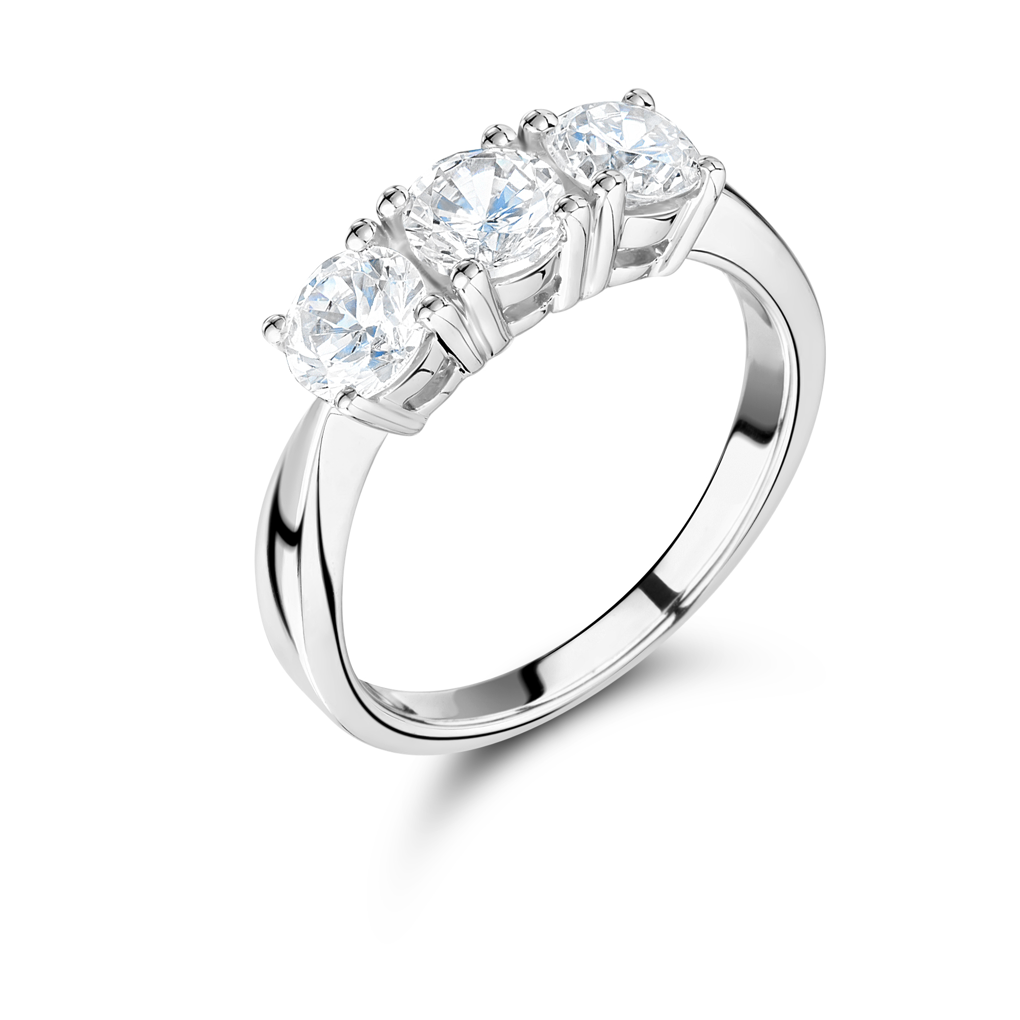 in cut white diamond ring gold solitaire brilliant