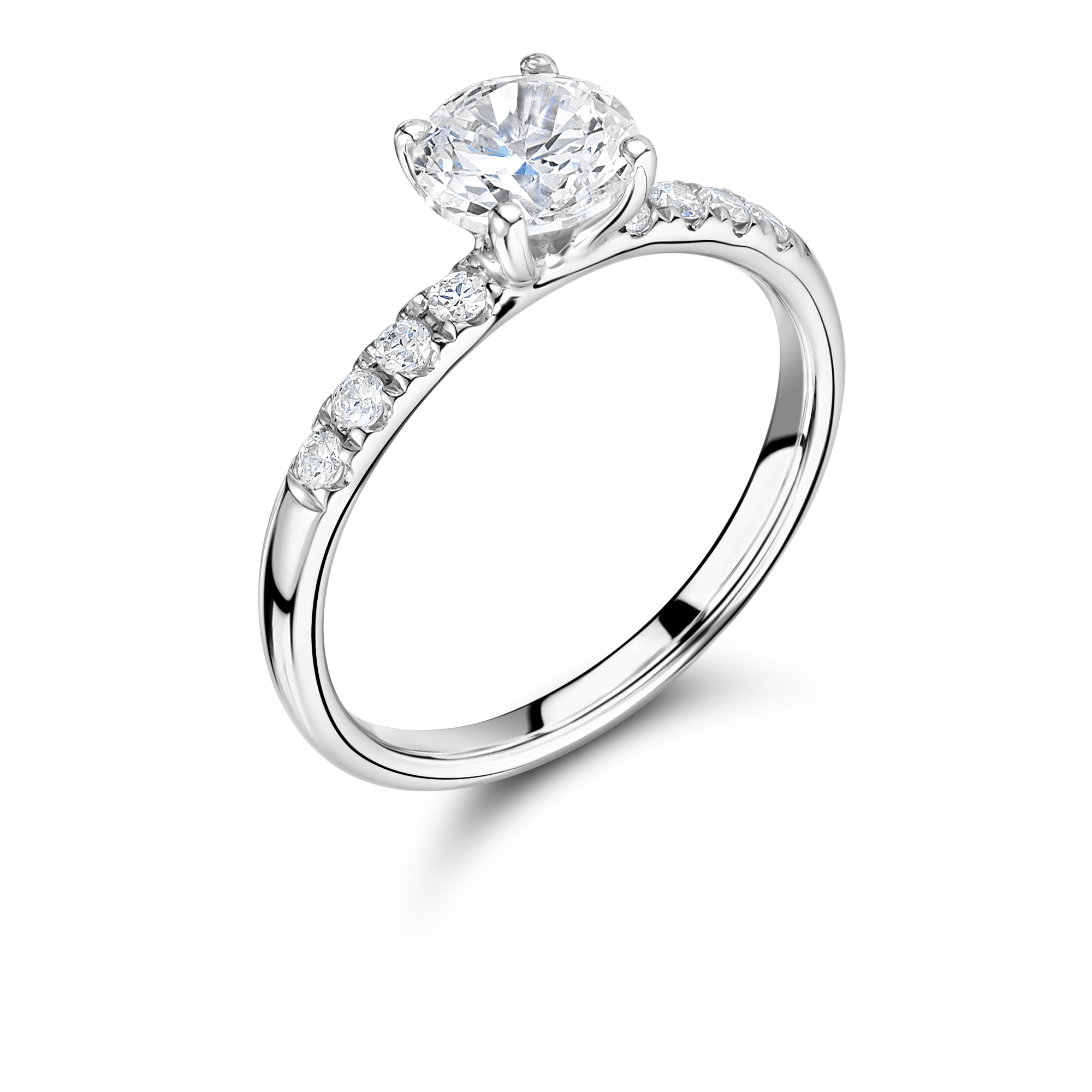 magnifying ring round solitaire rings engagement brilliant whitakers diamond cut glass