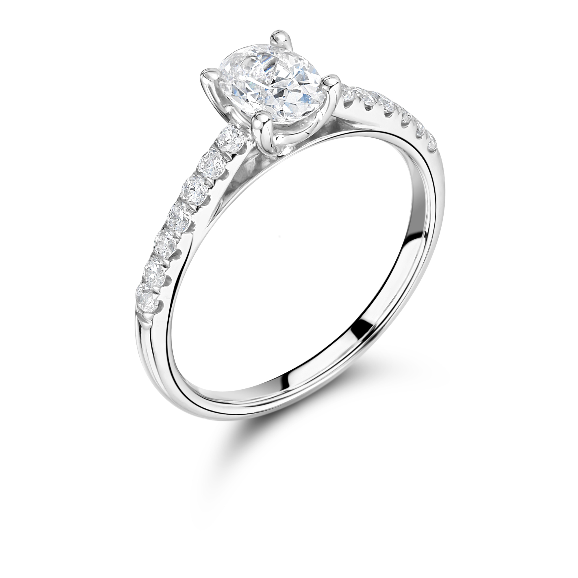 aj engagement diamond oval ring set cut