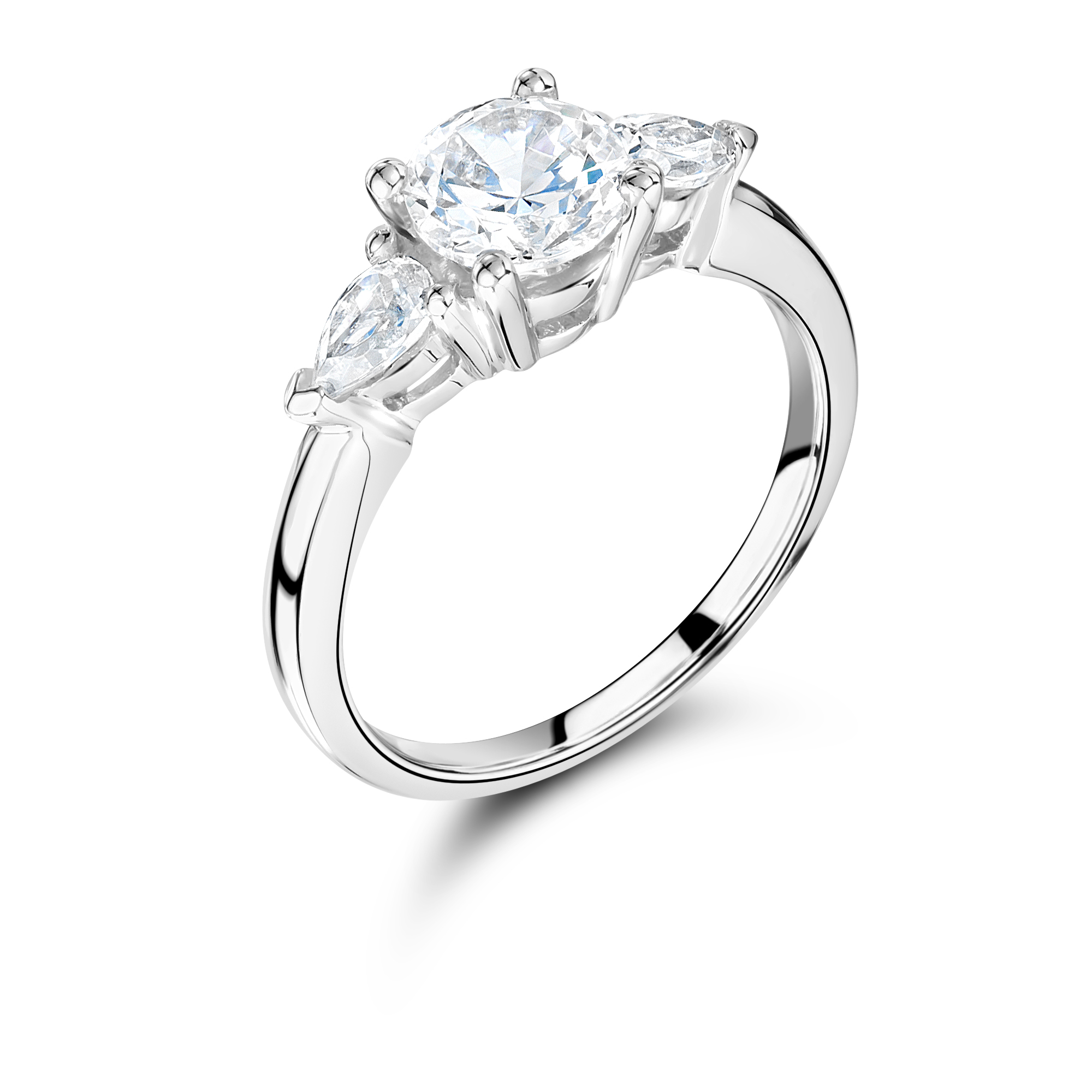 engagement ct ring in round diamond solitaire da brilliant gold white ly rings certified cut