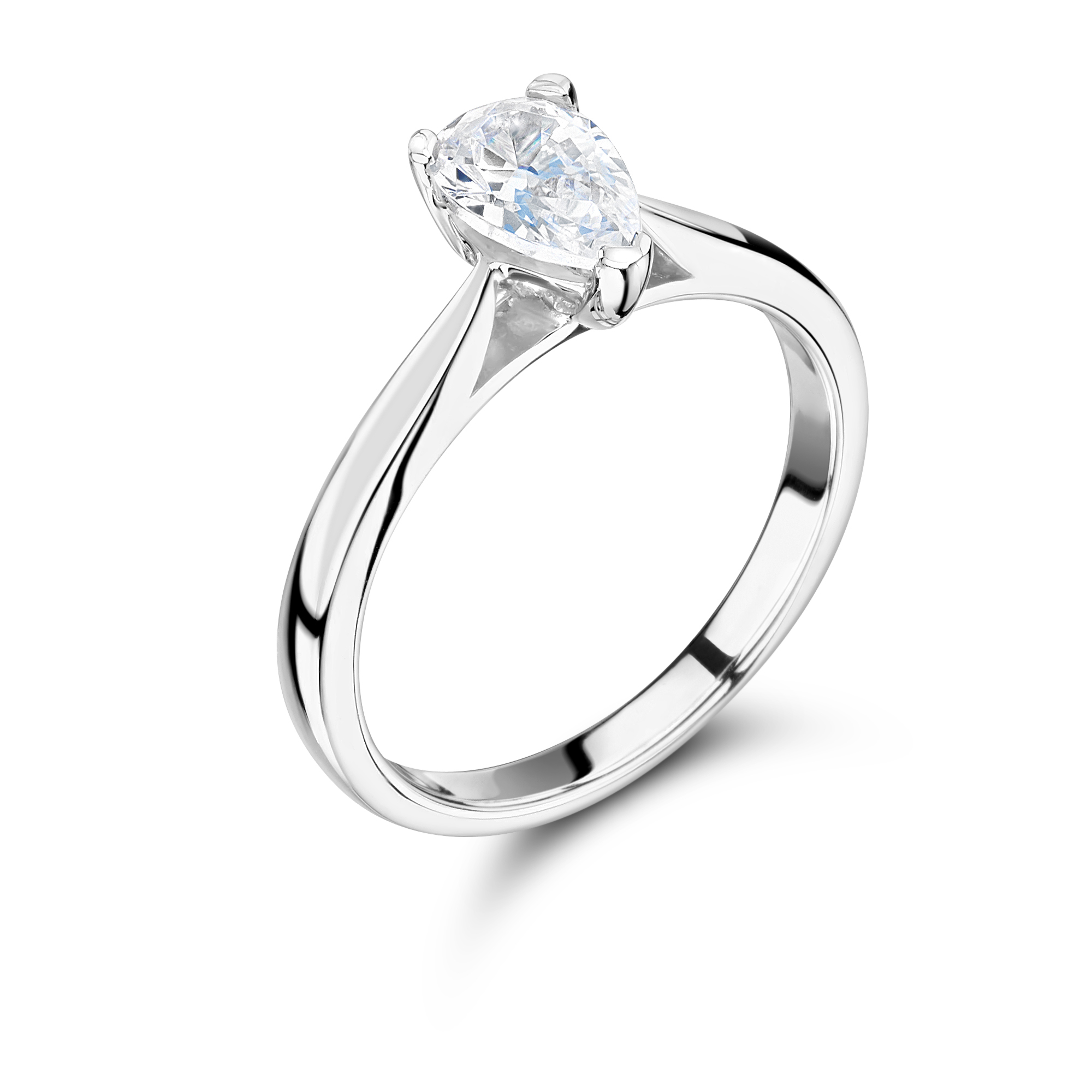 shape w baguettes engagement diamond pear shaped rounds ring